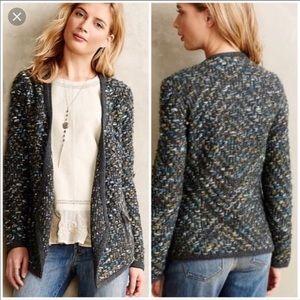 Anthropologie Moth Keavy Jacquard Knit Jacket EUC